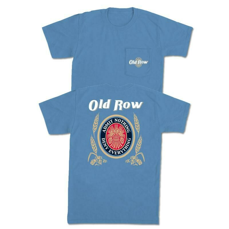 Old Row Retro Can Pocket Tee- Washed Denium S/S