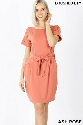 Zenana Tie Belt Dress