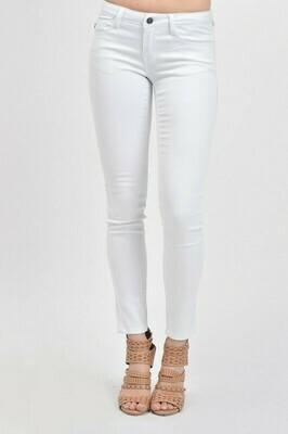 KanCan White Mid Rise Super Skinny Jeans