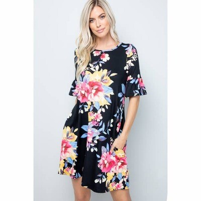 Sweet Lovely Floral Jersey Dress