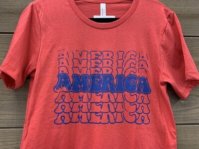 AMERICA Bella Canvas Tee