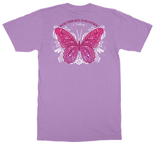 Southern Country Butterfly Tee