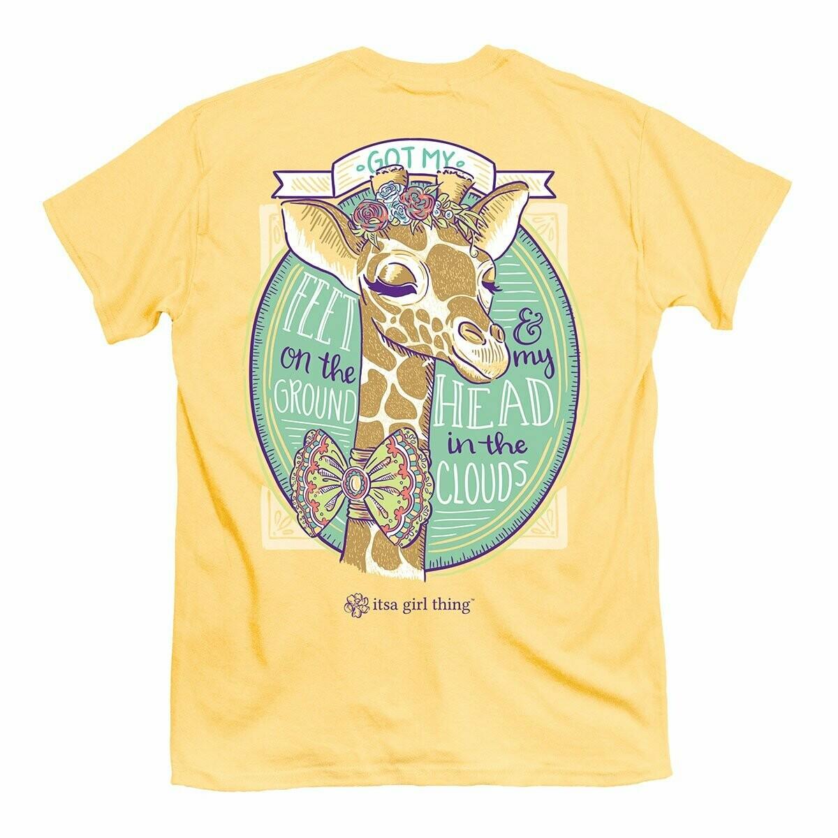 It's a girl thing- Giraffe Head in Clouds SS