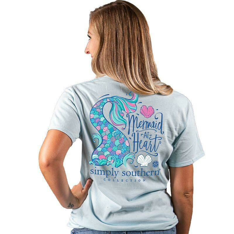 Simply Southern Mermaid at Heart Adult Tee