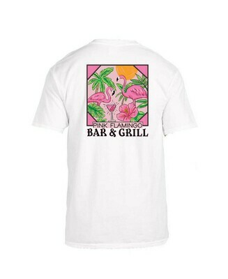 Jane Marie Pink Flamingo Bar and Grill Tee