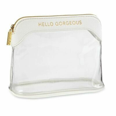 Mudpie Hello Gorgeous Makeup Bag White