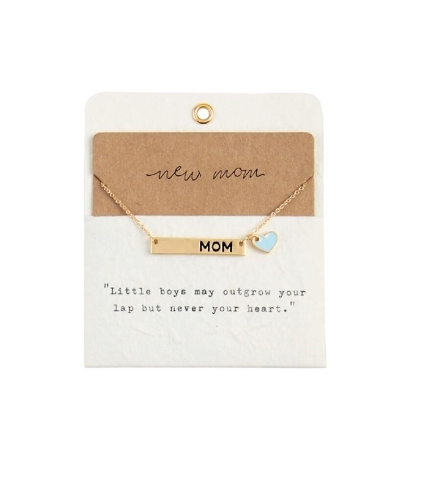 Mudpie Blue New Mom Necklace