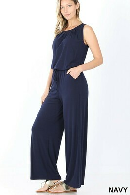 Zenana Sleeveless Jumpsuit with Pockets