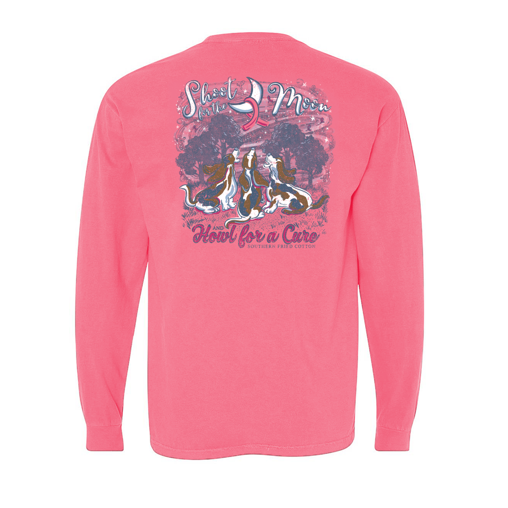 Southern Fried Cotton Howlin for a Cure Pink LS
