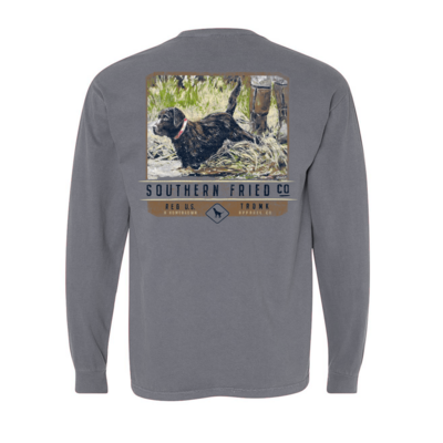 Southern Fried Cotton Waters Edge Grey LS