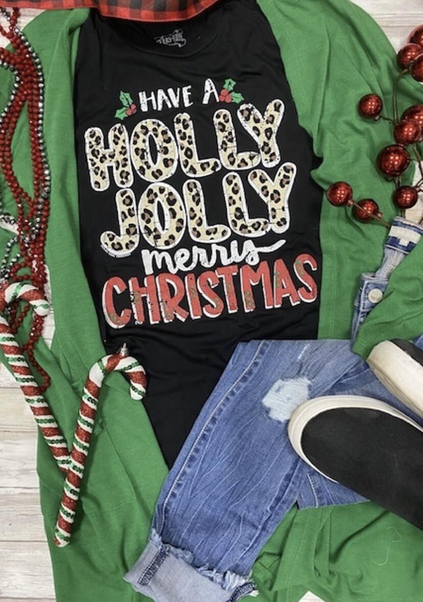 Have a Holly Jolly Christmas Veck short sleeve