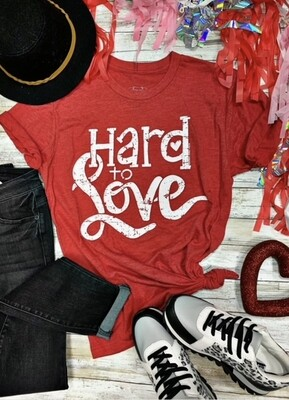 Hard to Love Vneck tee