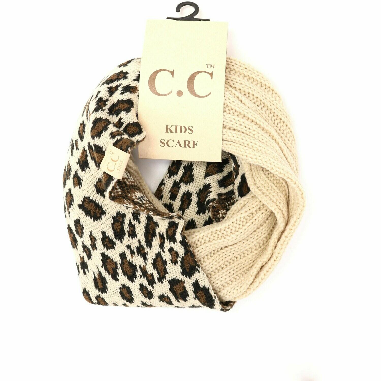 CC Beanie Kids Leopard Scarf