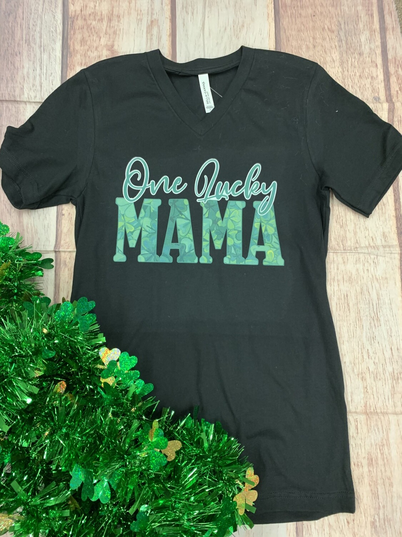 One Lucky Mama V-Neck