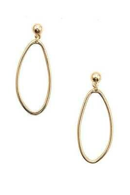 Tres Volie Oblong Cut Out Drop Earring