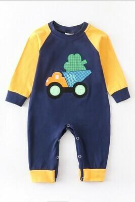 Kids Clover Truck Baby Romper