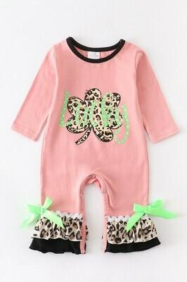 Kids Leopard Clover Baby Romper