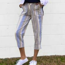 Land N' Sea Cropped Stripe Pants