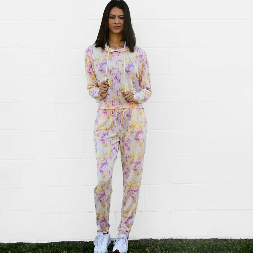 Tie Dye Cotton Candy Jogger Set
