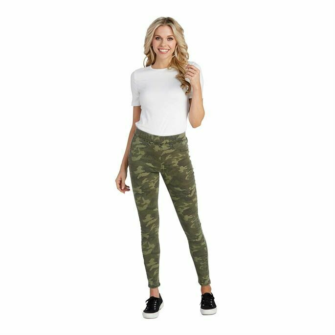 Mud Pie Elyse Camo Denim Leggings