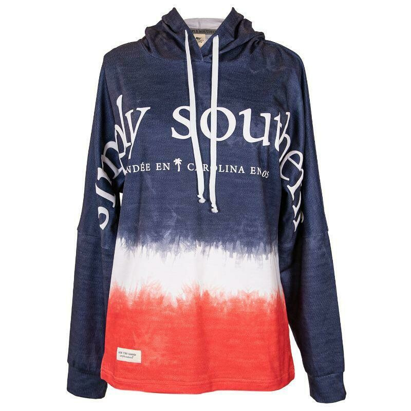 Simply Southern Red White Blue Coastal Hoodie