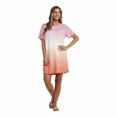 Mud Pie Pink Cleo Tie Dye Dress