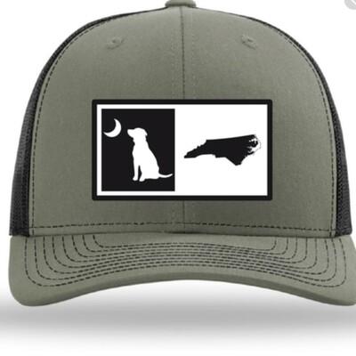 Local Boy NC Split State Trucker Hat Olive/Black