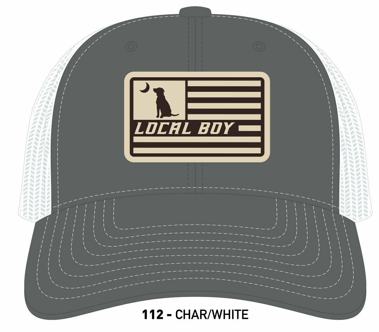 Local Boy Flag Patch Hat Charcoal/White