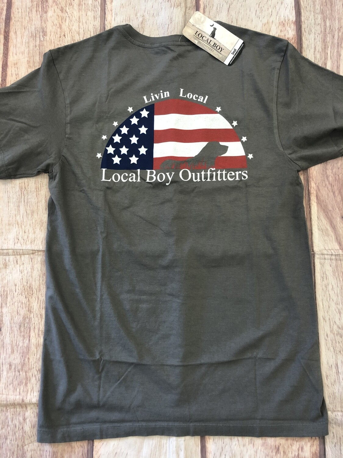 Local Boy Patriotic Lab Gray