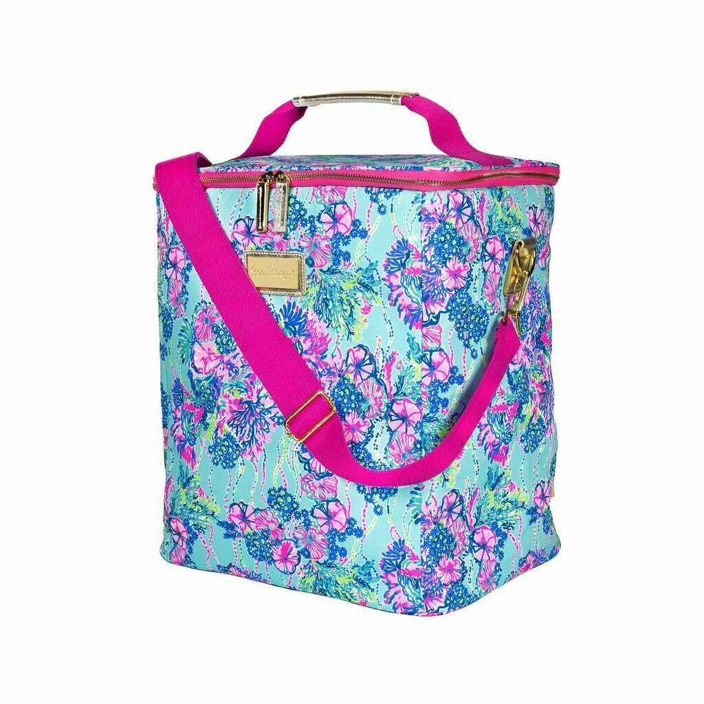 Lily Pulitzer Wine Carrier- Beach You To It