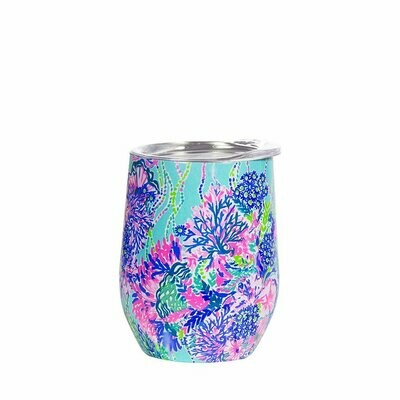 Lilly Pulitzer Stainless Steel Wine Glass w/Lid
