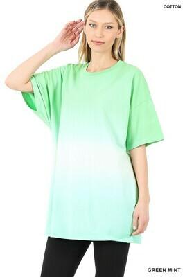 Zenana Dip Dye Drop Shoulder Oversized Cotton Long