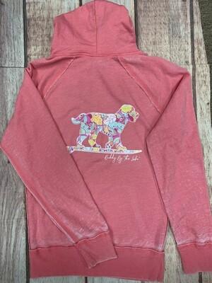 Buddy By The Lake Hooded Sweatshirt Seaside Floral