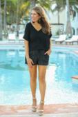 Jess Lea Sequin Drawstring shorts