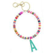 Jane Marie Initial Beaded Keychains