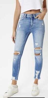Kan Can High Rise R&B Ankle Skinny