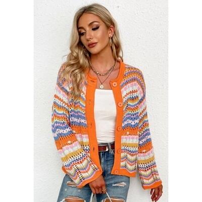 Lively Days Rainbow L/S Cardigan Sweater
