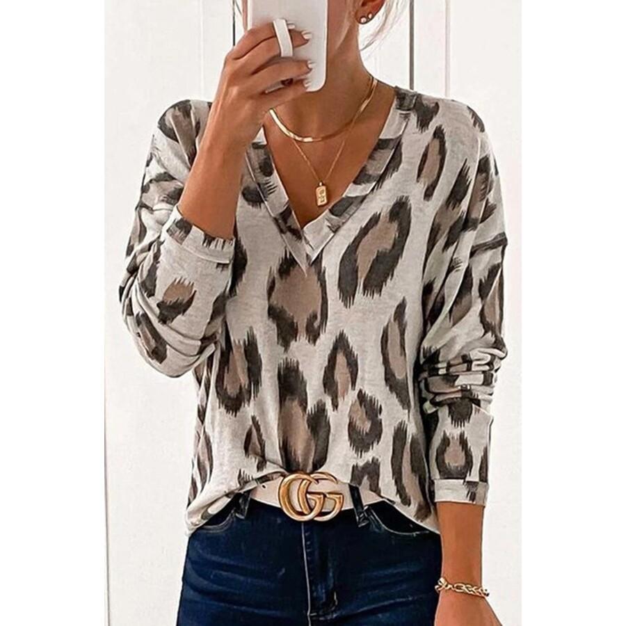 Chic V Neckline Long Sleeve top