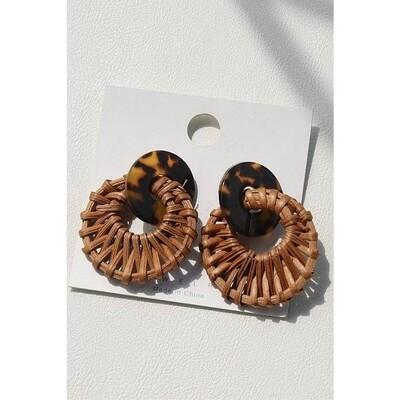 Sienna Stylish Woven Hoop Earrings