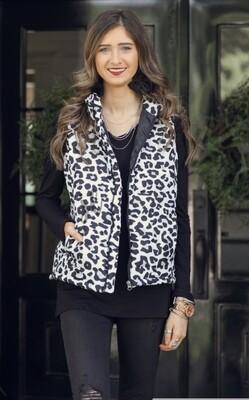 Lannie Leopard Vest