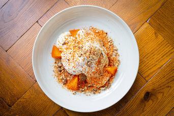 Американский пирог из сладкой моркови и творожным муссом, 180 гр