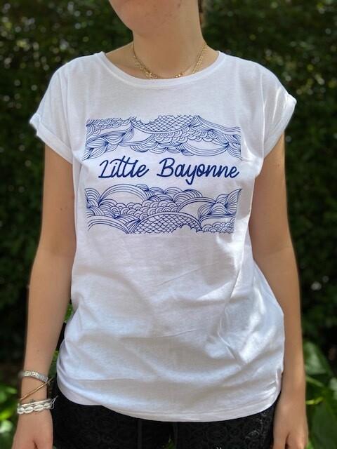 Tee-Shirt FEMME Blanc Motif Calligraphie