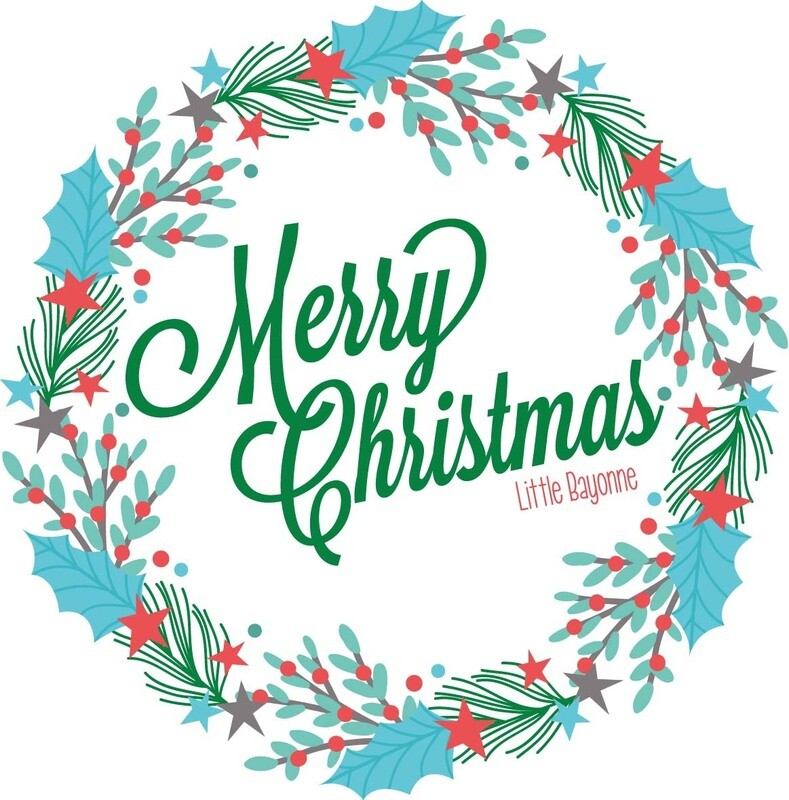 Carte Postale - Merry Christmas - Couronne