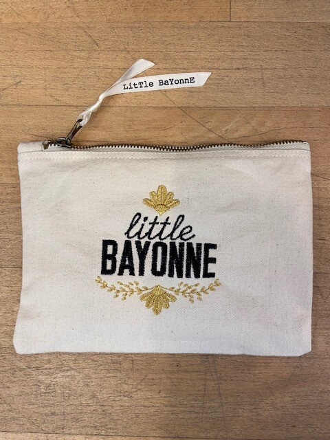 Pochette Brodée - Little bayonne - Noir&Or