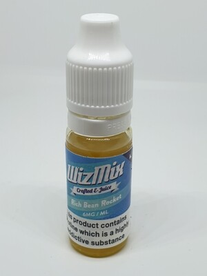 Wizmix Rich Bean Rocket 10ml 6mg 50/50