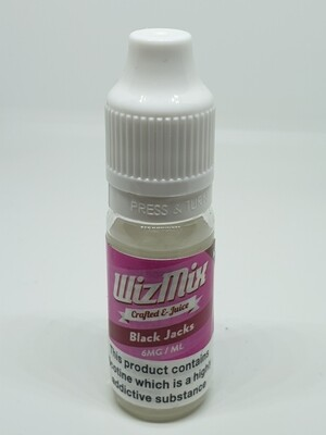 Wizmix Black Jacks 10ml 6mg 50/50