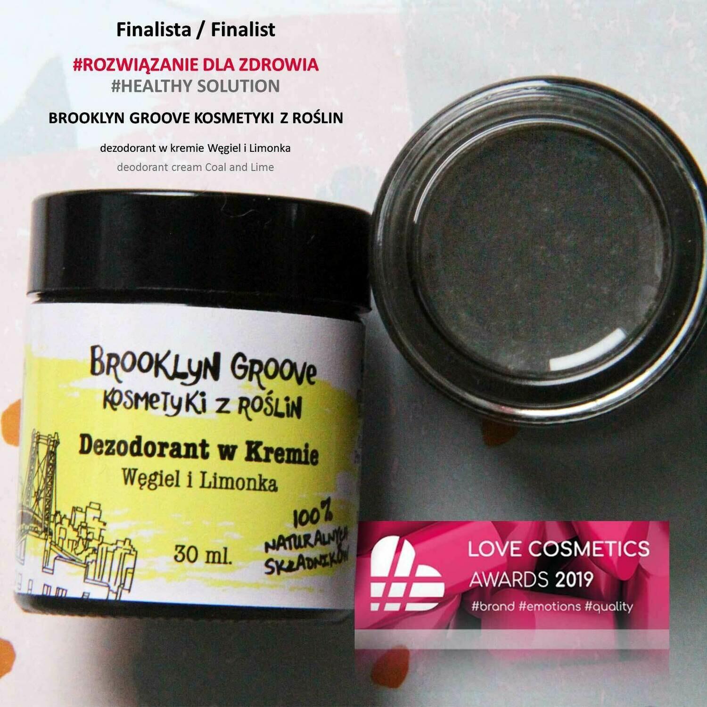 Dezodorant w Kremie - Węgiel i Limonka