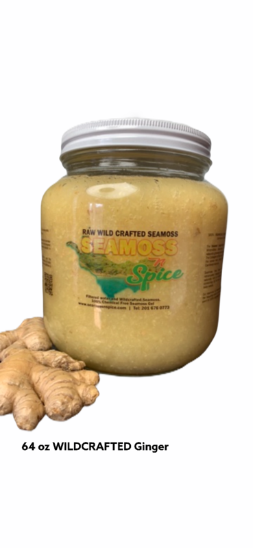 64 Oz Organic WILDCRAFTED Sea Moss Infused With Ginger