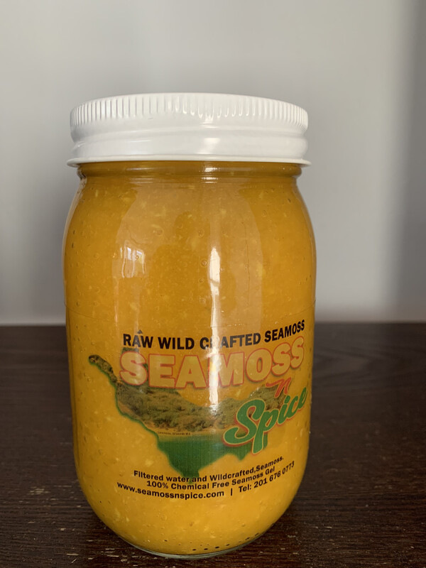 THE  POWER HOUSE 16 Oz WILDCRAFTED Sea Moss Gel Infused With Ginger & Turmeric