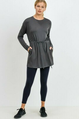 Cinched Hip Long Sleeve Resort Top
